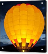 Hot Air Balloon Glow Acrylic Print