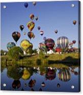 Hot Air Balloon Mass Ascension Acrylic Print
