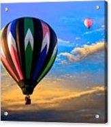 Hot Air Balloons At Sunset Acrylic Print by Bob Orsillo