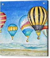 Hot Air Balloons Over Sandia Acrylic Print