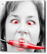 Hot Chilli Woman Acrylic Print