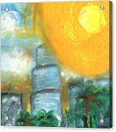Hot Miami Sky Acrylic Print