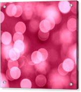 Hot Pink Bokeh Acrylic Print