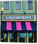 Hot Pink Cake Stand Acrylic Print