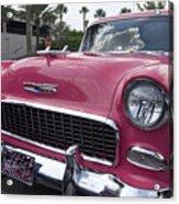 Hot Pink Chevy Acrylic Print