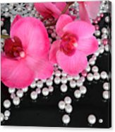 Hot Pink Orchids 2 Acrylic Print