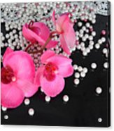Hot Pink Orchids Acrylic Print