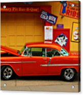 Hot Rod Bbq Acrylic Print by Perry Webster