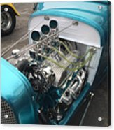 Hot Rod Engine Detail Acrylic Print