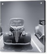 Hot Rod Power Black And White Poster Acrylic Print