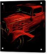 Hot Rod Red Acrylic Print