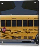 Hot Rod School Bus Acrylic Print by Mike McGlothlen