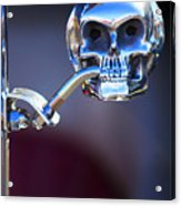 Hot Rod Skull Rear View Mirror Acrylic Print