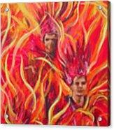 Hot Samba I Triptyche Left Panel Acrylic Print