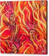 Hot Samba II Triptyche Middle Panel Acrylic Print