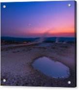 Hot Spring Sunset Acrylic Print