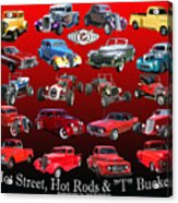 Car Show And Shine Poster Acrylic Print