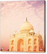 Hot Taj Mahal Acrylic Print