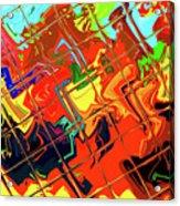 Hot Tile Reflection Acrylic Print