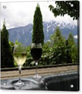 Hot Tub And Wine Acrylic Print