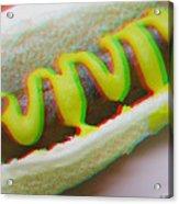 Hotdog - Use Red-cyan 3d Glasses Acrylic Print