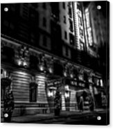 Hotel Metro, Nyc - Bw Acrylic Print