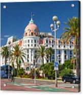 Hotel Negresco On English Promenade In Nice Acrylic Print