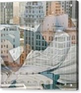 Hotel Phelan Reflection Acrylic Print