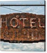 Hotel Pontotoc Acrylic Print