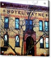 Hotel Wayne Bistro - Honesdale Pa Acrylic Print