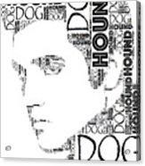 Hound Dog Elvis Wordart Acrylic Print