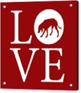 Hound Dog Love Red Acrylic Print