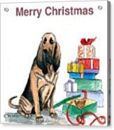Hounddog Christmas Acrylic Print