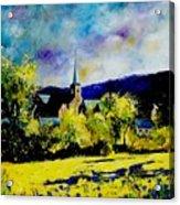 Hour Village Belgium Acrylic Print