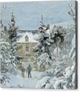 House At Montfoucault Acrylic Print by Camille Pissarro