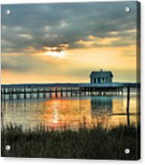 House At The End Of The Pier Acrylic Print by Steven Ainsworth