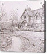 House By Lake Acrylic Print