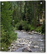 House By The Stream In Vail 1 Acrylic Print
