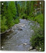 House By The Stream In Vail 2 Acrylic Print