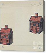 House Coin Bank Acrylic Print