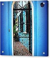 House Door 4 In Charleston Sc  Acrylic Print by Susanne Van Hulst