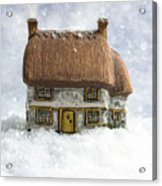 House In Snow Acrylic Print