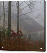 House In The Fog Acrylic Print
