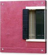 House Of Venice - Magenta Acrylic Print