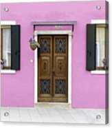 House Of Venice - Pink Acrylic Print