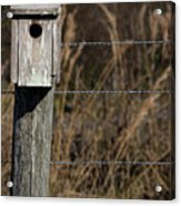 House On A Crooked Fence Post Acrylic Print