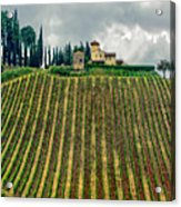 House On A Hill-tuscany Acrylic Print