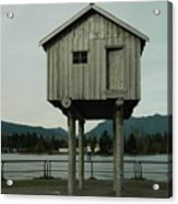 House On Stilts, Coal Harbour Vancouver Acrylic Print