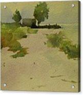 House On The Beach In Florida Acrylic Print