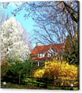House On The Hill In Spring Acrylic Print